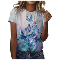 Women's Blouses & Shirts Women T-shirts Short Sleeve Casual Tee Summer Flower Print Fashion Tops 5xl Oversized Female Loose T-shirt O-neck P