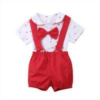 الوليد كيد الطفل بوي الزي الملابس رومبير بذلة وزرة السراويل 2 قطع شهم مجموعة الحجم 0 24 متر