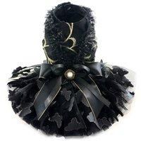 Handgemachtes Hund Kleid Kleid schwarz 3D Schmetterling mehr Ebenen Tüll Rock Abend Party Kleid Haustier Katze Tutu Pudel