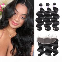 Ishow Brazilian Body Wave 3 4 Bundles with Lace Frontal Peruvian Loose Deep Kinky Curly Human Hair Bundles with Closure Straight Water