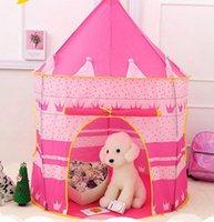 어린이 텐트 플레이 하우스 접는 유르트 프린스 공주 게임 성 실내 크롤링 룸 어린이 장난감 OWD8455