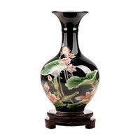 Chinesische Keramikvase Desktop Figuren Handwerk Home Wohnzimmer Tisch Möbel Dekoration Büro Shop Zubehör Ornamente Kunstvasen