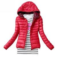 Winter Jacket Women Cotton Down Parka Hooded Women's Coat Casual Slim Down & Parkas Solid Basic Women's Jacket Long Sleeve Coat 210923
