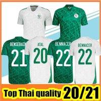 Hayranlar oyuncu versiyonu 2021 ev uzakta futbol formaları Mahrez Feghouli Bennacer Atal 20 21 Cezayir Futbol Takım Gömlek Erkekler + Çocuklar Maillot de Foot Setleri