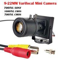 Lentille variable ajustable de 9-22mm 700TVL Sony Caméra CCD 1000TVL / 700TVL CCTV CCTV Boîte de sécurité Couleur Mini Cam Resultant des caméras IP