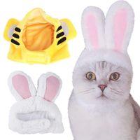 Divertido mascota perro gato gorra traje de felpa Pascua tocado sombrero perros pequeños para accesorios disfraces