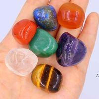 Crystal Naturel Chakra Perles de pierre 7pcs Set Yoga Énergie Stones Palme Reiki Cristaux Cristaux Gemstones Accueil Décoration Accessoires DWA5143