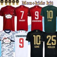 2021 2022 Özel Baskı Pavard Dajaku Futbol Formaları Erkekler Lewandowski SANE Kimmich Coman Muller Davies Jersey Hernandez 21 22 Çocuk Kiti Futbol Gömlek Üniformaları
