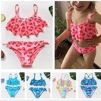 1~14Y Girls Swimsuit High Quality Swimwear Two Pieces Kids Bikini Set Biquini Infantil Swimming Suit For Children-ST108mix Women's