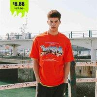 Inflación para hombre gráfico tshirts verano novedad impresión fresca pareja de gran tamaño algodón manga corta camisetas hombres 1631s21 210721