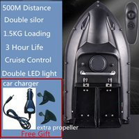 3 hour long time life 500m Distance Double Hopper Double motor Fishing boat Remote Control Fishing Bait Boat free car charger X0522