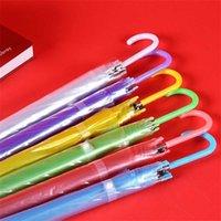 우산 긴 손잡이 우산 자동 스트레이트 바 색상 투명 패션 비 환경 보호 단단한 고품질 3 35 H5EE