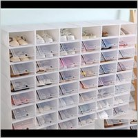 BOIS BOOBOX Cas de stockage épaissie 6pcs Organizer Rack Y1128 Chaussures Boîtes de chaussures Der Plastique TRANSPARENT BOX SOMATIQUE Empilable WMTIK CX3ZD E2BHQ