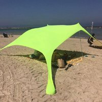 Tents And Shelters Family Beach Sunshade Lightweight Sun Shade Tent With Sandbag Anchors 4 Free Pegs UPF50+ UV Large Portable Canopy Drop