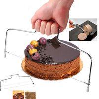 Çift çizgi Ayarlanabilir Paslanmaz Çelik Kek Kesim Dilimleme Cihazı Kek Dekorasyon Kalıp DIY Bakeware Mutfak Pişirme Aracı DHL