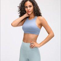 Bustiers & Corsets Sexy Back Crisscross Straps Running Sports Bra Women Active Wear High Neck Medium Support Workout Yoga Tops