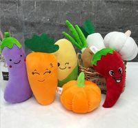 13-28cm 8 Color Peluche Pared Cosas Juguete Creativo Vegetal Rag Pumpkin Potato Ajo Pepper Ceboion Doll Cumpleaños Regalo