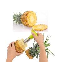 Meyve Araçları Paslanmaz Çelik Ananas Soyucu Kesici Dilimleme Topa Peel Çekirdek Bıçak Gadget Mutfak Malzemeleri 1857 V2