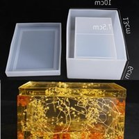 Transparent Silicone Mould Dried Flower Resin Decorative Craft DIY Storage tissue box Mold epoxy resin molds for jewelry T200917