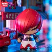 Véritable chat chat boxeur joint coiffe articulée dessin animé créatif head heak doll doll décoration modèle jouet cadeau
