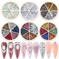 Resina Cristalli AB 600/800 pezzi Nail Art Flat Back Strass Gemme Miscele misti Mani Diamante Pietra per unghie Vestiti Scarpe Scarpe Borse Artigianato