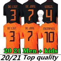 Grande taille 4XL Memphis 2021 Pays-Bas Soccer Shirt de Jong Holland de Ligt Strotman Van Dijk Virgil 2022 Jersey Football Jersey Adult Hommes + Kit Kit