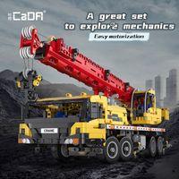 C61081W MOC High Tech Engineering Vehicle Multifunctional Mobile Crane Advanced Remote Control Building Block Brick Toys