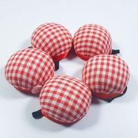 10 pack Wrist Pin Cushions of Sewing notions Stripe Print Wearable Strap Pumpkin Pins Cushion for Machine Accessories DIY Crafts