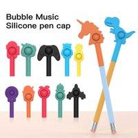 Tiktok Pop Pen Pencil Button Push Bubble Popper Toys Audible Tactile Sensory Fidget Rubber Pen Cap Stress Relief Finger Puzzle Stationery Extender Use G779T3L