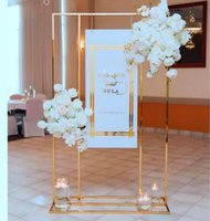 Iron Arch Wedding Decoration Welcome Sign Billboard Backdrops Metal Frame Flowers Plinths Balloons Rack Birthday Party Stage Home Background Pillar Holder Shelf