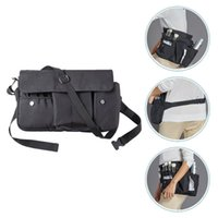 Eyebrow Tools & Stencils Pockets Professional Cosmetic Makeup Brush Bag Organizer With Artist Belt Strap