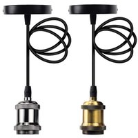 Retro Single Pendant Lamps with One Vintage Socket for Edison Bulb Use to Living Room Bar Pub
