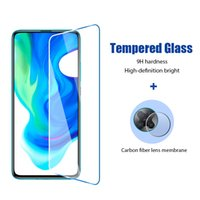Cell Phone Screen Protectors 2in1 Glass For xiaomi Poco F3 Screen Protector for Xiaomi Poco F2 Pro X3 NFC Camera Lens Film Little