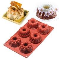 Ankomst Creative DIY Bakesverktyg 6-Cavity Silicone Mini Bundt Mold Pan Cookie Bakeware Cake BS Moulds