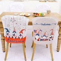التماثيل كرسي غطاء الولايات المتحدة الأمريكية الاستقلال اليوم الوطني النمط الجدوى قزم غرفة الطعام المطبخ مطعم كراسي ديكور GWA4654