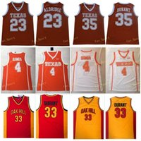Texas Longhorns Kevin Durant 35 Lamarcus Aldridge 23 Mohamed Bamba 4 College Basketball Jerseys Durant Oak Hill High School Stitched Jersey