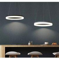 Anillo de araña creativa simple cubierta acrílica lámpara de aluminio luz LED fuente de luz para sala de estar Dormitorio Tienda Oficina FD-1574