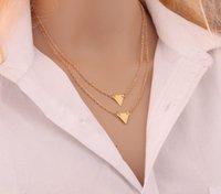 Triangolo rettangolo catena doppia multi strato scava fuori moda choker stringa perline collana gioielli accessori per gioielli 1 3LY O2