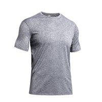 Lulu mens gym short sports t shirts crewneck sleeve mesh yoga shirt top tops Wear designer lu Align Elastic Fitness Tights Workout men boack white gray