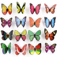 12cm Simulation Papillon Réfrigérateur Sticker mural Accueil Décoration 3D papillon aimant salon chambre décoration ZC199