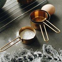 Copos de medição de aço inoxidável de cobre de alta qualidade 4 peças definir ferramentas de cozinha fazendo bolos e gauges de cozimento Ferramentas de medição HWD8223