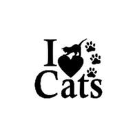 8.3 cm * 7.3 cm Ben Aşk Kedi Pet Paws Kedi Sevimli Araba Çıkartması Sticker Vinil Araba Sticker Siyah veya Şerit C8-0132