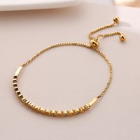 Link, Chain 18K Gold Titanium Steel Adjustable Bracelet For Women High Quality Beads Accessories Korean Trendy Fashion Egirl Jewelry Kpop