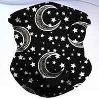 Cycling Caps & Masks Star And Moon Printing Face Scarf Outdoor Neck Gaiter Multifunctional Mask Riding Neckerchief Windproof Headwrap