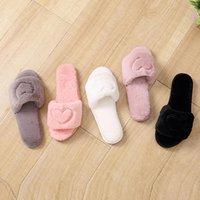 Chaussons à la maison Hiver Chaussures de coton antidérapantes chaudes TPR TRP Open-Toed Open-Toed Viscose épaisse
