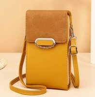 Messenger Bags Women PU Color Patchwork Flap Cover Phone Cross body Bag