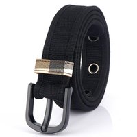 Belts Fashion Casual Canvas Belt Inner Pin Buckle Versatile Jeans For Men And Women Simple Atmosphere Multicolor Options Waistband
