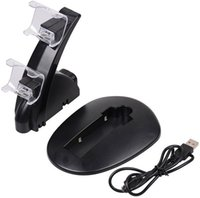 Dual USB Chargeurs Chargeurs Docking Station Stand Double Chargeur LED Lumière pour Sony PlayStation 4 PS4 PRO Slim Sans Wireless Controlers DHL