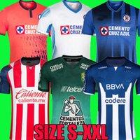21 22 Curz Azul Soccer Jerseys Liga MX 2021 2122 Club America Unam Rayados de Monterrey Leon Uanl Tigres Chivas Guadalajara Xolos Tijuana Camisas Camicie da calcio Top