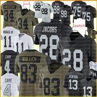 83 Darren Waller Jersey 28 Josh Jacobs 4 Derek Carr Maxx Crosx Football Jerseys هنري Ruggs III Hunter Renfrow بو جاكسون جوناثان أبرام تشارلز وودسون هاول